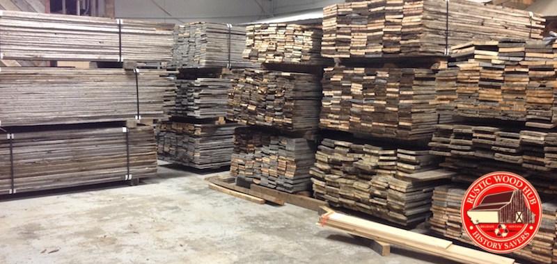 Rustic Wood Hub's reclaimed snowfence