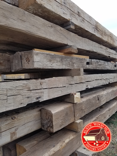 reclaimed hand hewn timbers