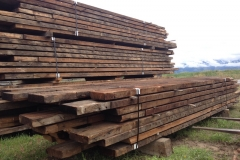 Rustic Wood Hub's reclaimed rafter & joist stock