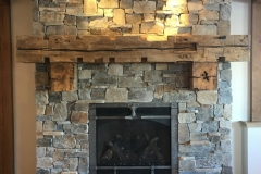 Antique 12x12 Hand Hewn Mantel