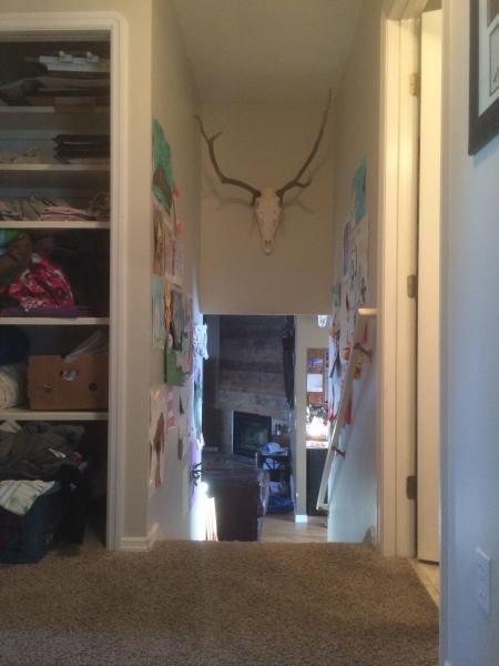 Nook Above Stairs w/ Elk Head