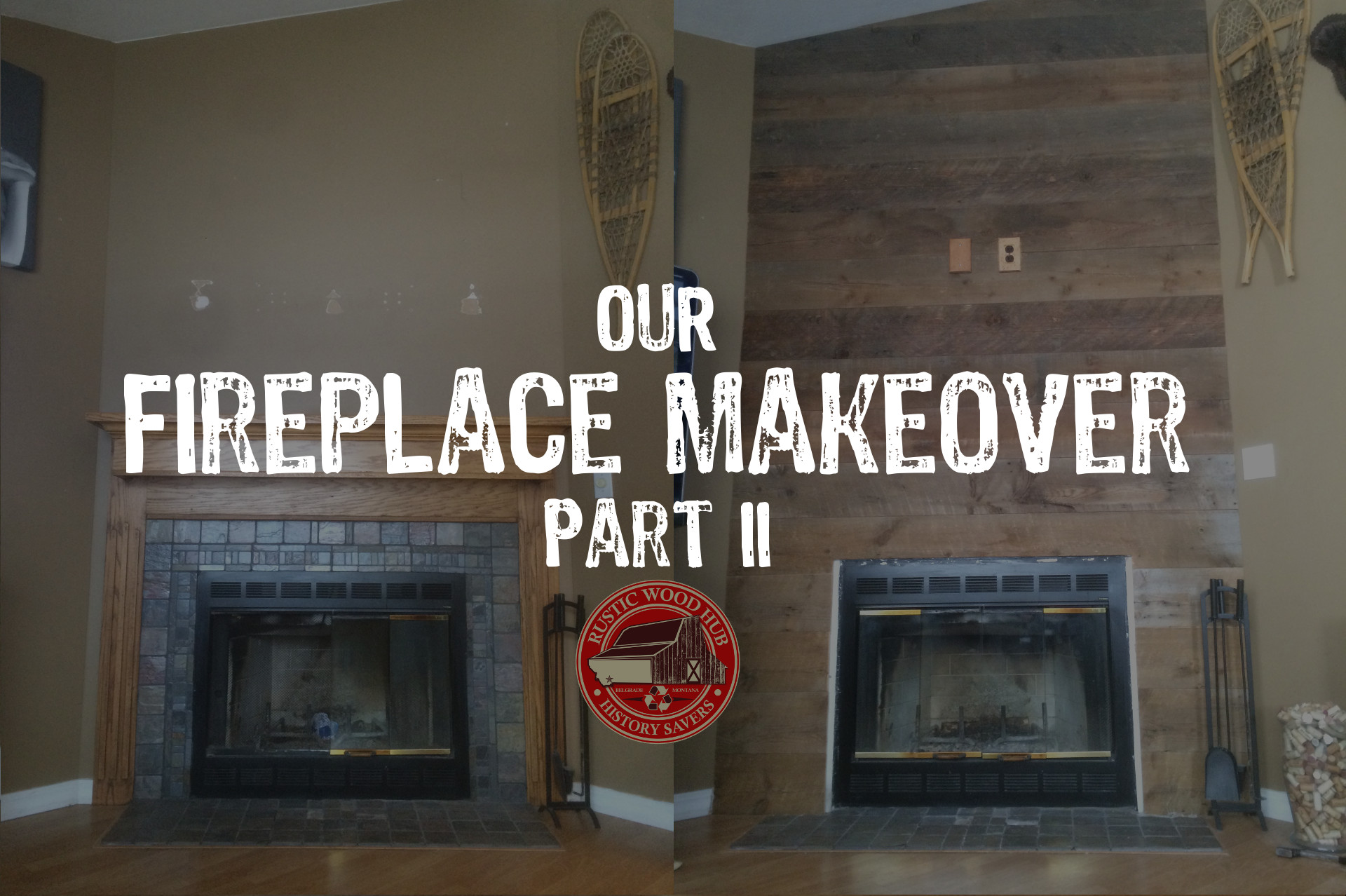 Recalimed Wood Fireplace Part 2